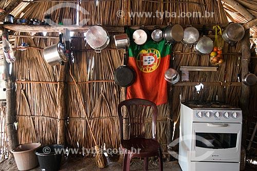 Detalhe de fogão em casa da Vila de Queimada dos Britos no Parque Nacional dos Lençóis Maranhenses  - Santo Amaro do Maranhão - Maranhão (MA) - Brasil