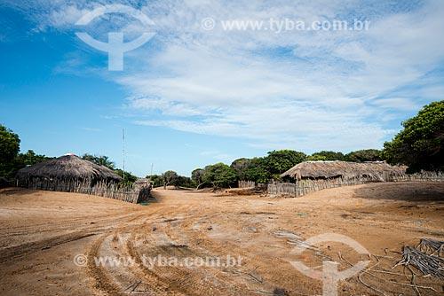 Casas da Vila de Queimada dos Britos no Parque Nacional dos Lençóis Maranhenses  - Santo Amaro do Maranhão - Maranhão (MA) - Brasil