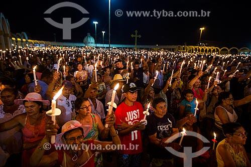 Romaria de Nossa Senhora das Candeias próximo à Basílica Santuário de Nossa Senhora das Dores  - Juazeiro do Norte - Ceará (CE) - Brasil