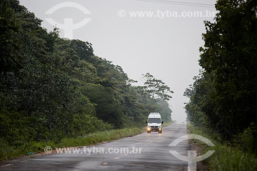 Trecho da Rodovia CE-292 entre as cidade do Crato e Nova Olinda - Floresta Nacional do Araripe-Apodi  - Crato - Ceará (CE) - Brasil