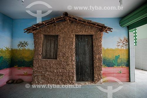 Reprodução de Casa de pau-a-pique no mini-shopping  - Nova Olinda - Ceará (CE) - Brasil