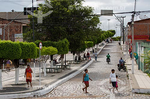 Vista geral da Rua Jeremias Pereira  - Nova Olinda - Ceará (CE) - Brasil