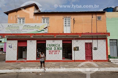 Fachada de farmácia em Nova Olinda   - Nova Olinda - Ceará (CE) - Brasil