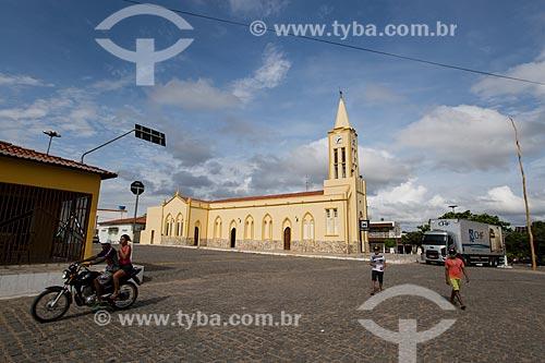 Fachada lateral da Igreja de São Sebastião  - Nova Olinda - Ceará (CE) - Brasil