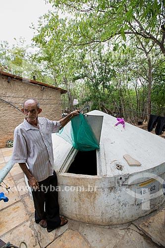 Cisterna em fazenda de agricultura orgânica de manejo florestal na Caatinga - Sítio Patos  - Nova Olinda - Ceará (CE) - Brasil