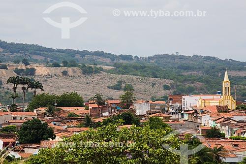 Vista geral da cidade de Nova Olinda com a Igreja de São Sebastião à direita  - Nova Olinda - Ceará (CE) - Brasil