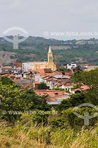Vista geral da cidade de Nova Olinda com a Igreja de São Sebastião  - Nova Olinda - Ceará (CE) - Brasil