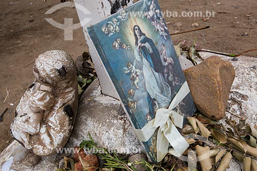Detalhe de imagem religiosa na Colina do Horto  - Juazeiro do Norte - Ceará (CE) - Brasil