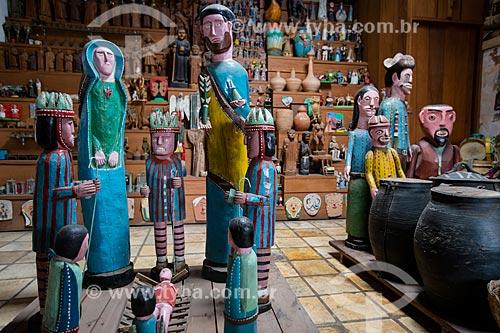 Presépio no acervo permanente do Centro da Cultura Popular Mestre Noza  - Juazeiro do Norte - Ceará (CE) - Brasil