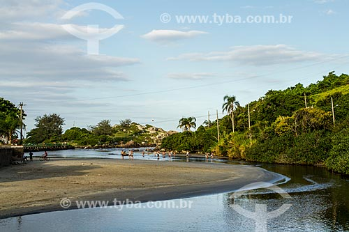 Rio Sangradouro - Separa a Praia da Armação da Praia do Matadeiro  - Florianópolis - Santa Catarina (SC) - Brasil