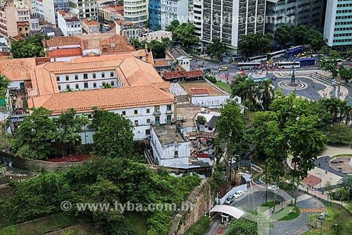 Vista geral da Igreja e Convento de Santo Antônio do Rio de Janeiro (1615) à esquerda com o Largo da Carioca à direita  - Rio de Janeiro - Rio de Janeiro (RJ) - Brasil