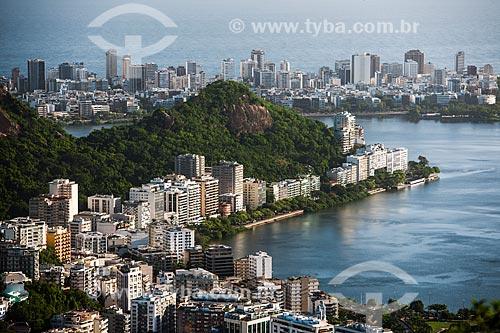 Morro do Sacopã visto do Mirante Dona Marta com o bairro de Ipanema ao fundo  - Rio de Janeiro - Rio de Janeiro (RJ) - Brasil