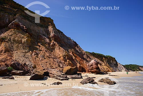 Vista da orla da Praia de Carro Quebrado na Rota Ecológica de Alagoas  - Passo de Camaragibe - Alagoas (AL) - Brasil