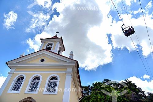 Capela de Santo Antônio (1884) com o teleférico de Nova Friburgo  - Nova Friburgo - Rio de Janeiro (RJ) - Brasil