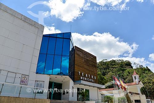 Fachada do Teatro Municipal Laercio Rangel Ventura (2008) - antigo Teatro Municipal Ariano Suassuna  - Nova Friburgo - Rio de Janeiro (RJ) - Brasil