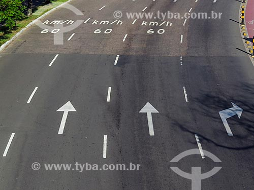 Pistas da Avenida Loureiro da Silva  - Porto Alegre - Rio Grande do Sul (RS) - Brasil