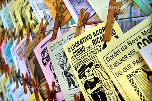 Cordéis à venda no Centro Luiz Gonzaga de Tradições Nordestinas  - Rio de Janeiro - Rio de Janeiro (RJ) - Brasil
