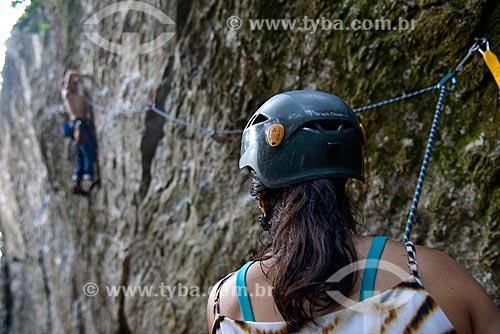 Escaladores no Campo Escola 2000 do Parque Nacional da Tijuca  - Rio de Janeiro - Rio de Janeiro (RJ) - Brasil