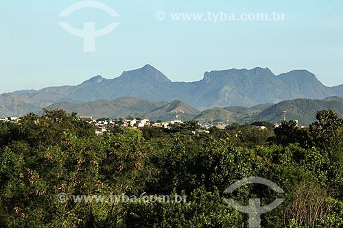 Vista do Maciço da Tijuca a partir da zona oeste  - Rio de Janeiro - Rio de Janeiro (RJ) - Brasil