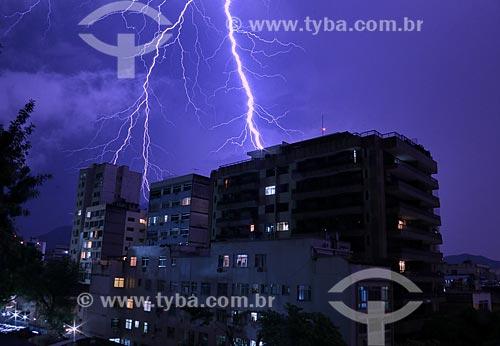 Raio durante tempestade  - Rio de Janeiro - Rio de Janeiro (RJ) - Brasil