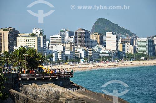 Mirante do Leblon com a Praia do Leblon ao fundo  - Rio de Janeiro - Rio de Janeiro (RJ) - Brasil