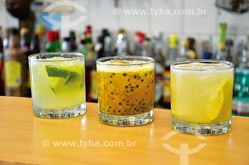 Caipirinhas de limão, maracujá e lima no Bar do Mineiro  - Rio de Janeiro - Rio de Janeiro (RJ) - Brasil