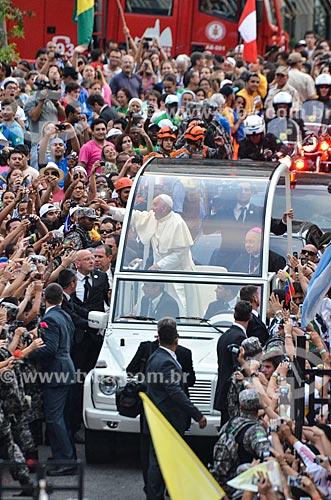 Papa Francisco na Praia de Copacabana durante a Jornada Mundial da Juventude (JMJ)  - Rio de Janeiro - Rio de Janeiro (RJ) - Brasil
