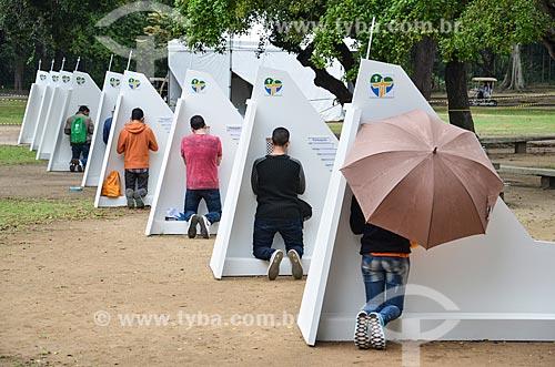 Confessionários no Parque da Quinta da Boa Vista durante a Jornada Mundial da Juventude (JMJ)  - Rio de Janeiro - Rio de Janeiro (RJ) - Brasil