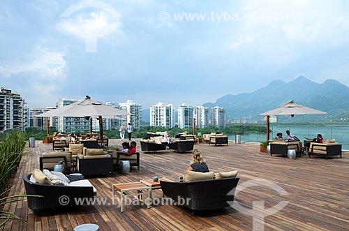 Vista da Lagoa da Tijuca a partir do terraço do Shopping Village Mall  - Rio de Janeiro - Rio de Janeiro (RJ) - Brasil