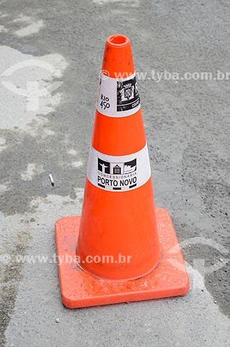 Cone de trânsito no centro do Rio de Janeiro  - Rio de Janeiro - Rio de Janeiro (RJ) - Brasil