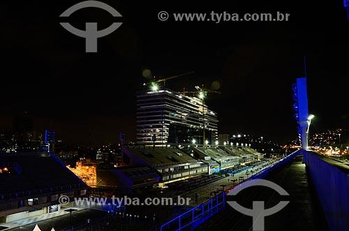 Sambódromo da Marquês de Sapucaí à noite  - Rio de Janeiro - Rio de Janeiro (RJ) - Brasil