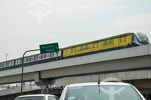 Vista do metrô a partir da Avenida Osvaldo Aranha  - Rio de Janeiro - Rio de Janeiro (RJ) - Brasil