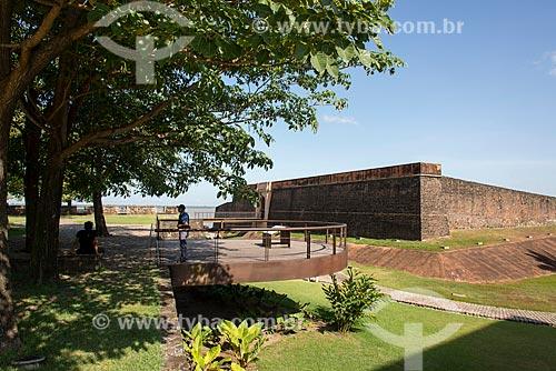 Forte do Castelo do Senhor Santo Cristo (1616) - também conhecido como Forte do Castelo ou Forte do Presépio - na margem da foz do Rio Guamá  - Belém - Pará (PA) - Brasil