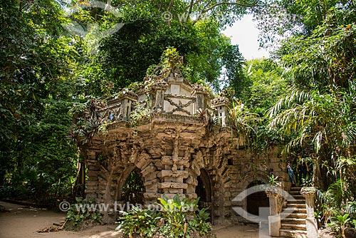 Construção conhecida como Castelinho no Parque Zoobotânico do Museu Paraense Emílio Goeldi  - Belém - Pará (PA) - Brasil