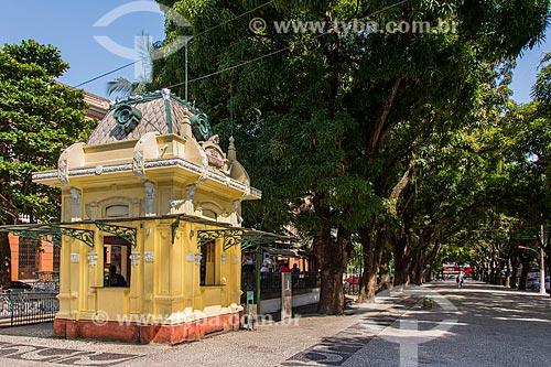 Bar do Parque com Teatro da Paz ao fundo próximo à Praça da República  - Belém - Pará (PA) - Brasil