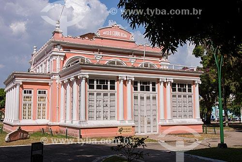Fachada do Instituto de Ciências da Arte da Universidade Federal do Pará - antigo Museu Comercial  - Belém - Pará (PA) - Brasil