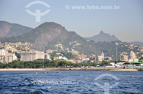 Vista do bairro da Glória a partir da Baía de Guanabara  - Rio de Janeiro - Rio de Janeiro (RJ) - Brasil