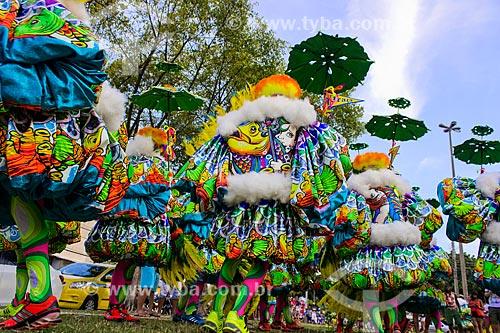 Foliões da Turma da Praça - tradicional grupo de bate-bolas de Marechal Hermes  - Rio de Janeiro - Rio de Janeiro (RJ) - Brasil