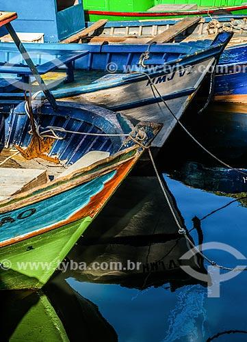 Barcos no píer do Quadrado da Urca  - Rio de Janeiro - Rio de Janeiro (RJ) - Brasil