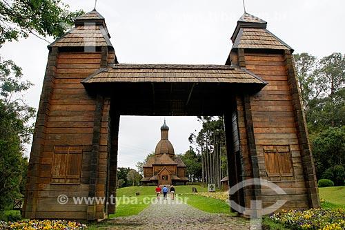 Memorial Ucraniano (uma réplica da Igreja de São Miguel na Serra do Tigre no município de Mallet) -  inaugurado em 1995 em homenagem ao centenário da chegada dos colonizadores ucranianos  - Curitiba - Paraná (PR) - Brasil