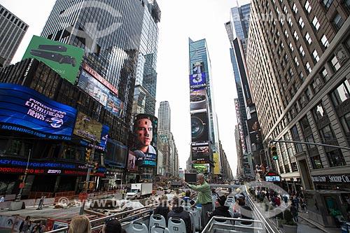 Fachada dos prédios na Times Square  - Cidade de Nova Iorque - Nova Iorque - Estados Unidos