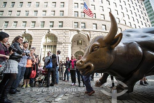 Detalhe do Charging Bull (1989) - também conhecido como Touro de Wall Street  - Cidade de Nova Iorque - Nova Iorque - Estados Unidos