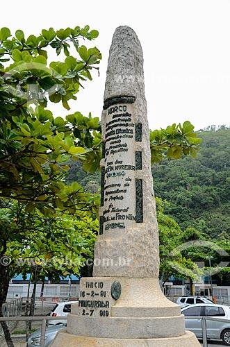 Marco da Avenida Atlântica (1910) - erguido em comemoração ao alargamento da Avenida Atlântica  - Rio de Janeiro - Rio de Janeiro (RJ) - Brasil