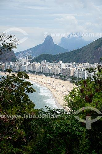 Vista da Praia do Leme e Copacabana a partir do mirante do Forte Duque de Caxias - também conhecido como Forte do Leme  - Rio de Janeiro - Rio de Janeiro (RJ) - Brasil