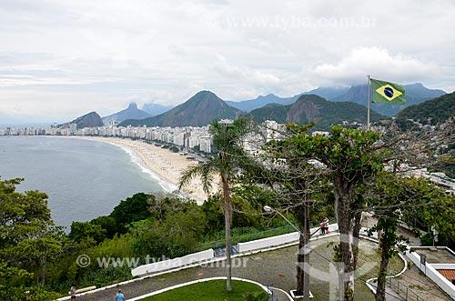 Vista do bairro do leme a partir do mirante do Forte Duque de Caxias - também conhecido como Forte do Leme  - Rio de Janeiro - Rio de Janeiro (RJ) - Brasil
