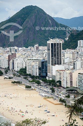Vista do bairro do leme a partir do mirante do Forte Duque de Caxias - com o Morro de São João ao fundo  - Rio de Janeiro - Rio de Janeiro (RJ) - Brasil