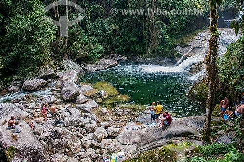 Turistas na Cachoeira Itaporani no Parque Nacional de Itatiaia  - Itatiaia - Rio de Janeiro (RJ) - Brasil