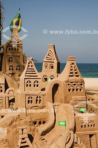 Castelo de areia na Praia de Ipanema  - Rio de Janeiro - Rio de Janeiro (RJ) - Brasil