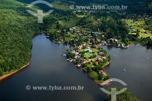 Foto aérea de casas próximo à Barragem do Salto  - São Francisco de Paula - Rio Grande do Sul (RS) - Brasil
