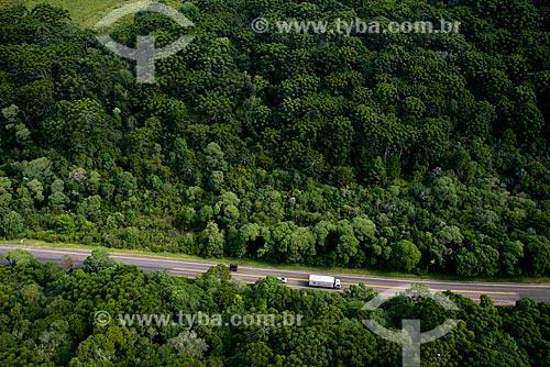Foto aérea de trecho da rodovia RS-235 próximo à cidade de Canela  - Canela - Rio Grande do Sul (RS) - Brasil